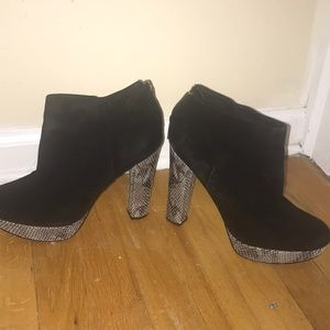 Black snake skin Michael Kors booties